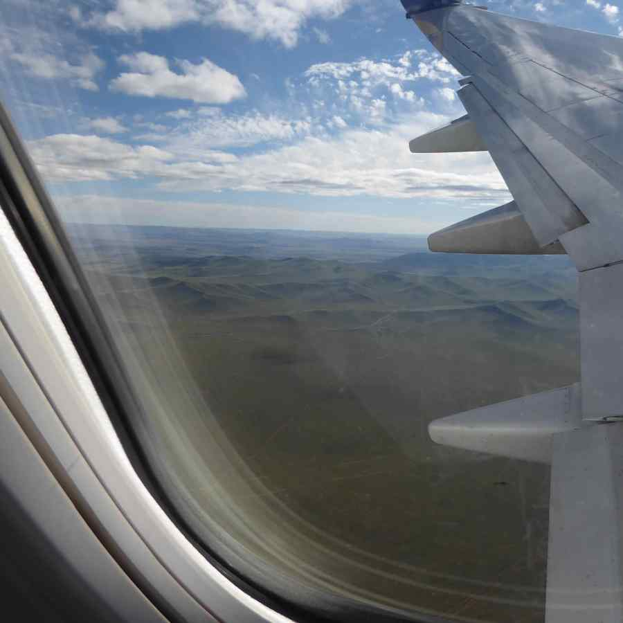 arrive in MONGOLIA